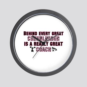 Great Cheer Coach - Pink Zebr Wall Clock
