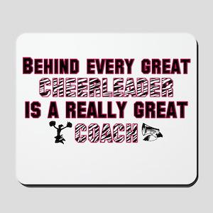 Great Cheer Coach - Pink Zebr Mousepad