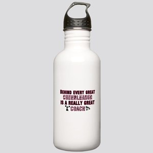 Great Cheer Coach - Pink Zebr Stainless Water Bott