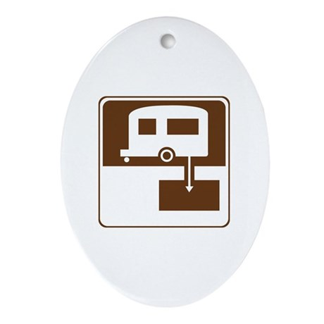 Dump Station Sign Ornament (Oval)