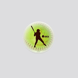 iHit Fastpitch Softball Mini Button