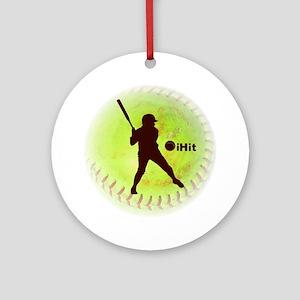 iHit Fastpitch Softball Ornament (Round)