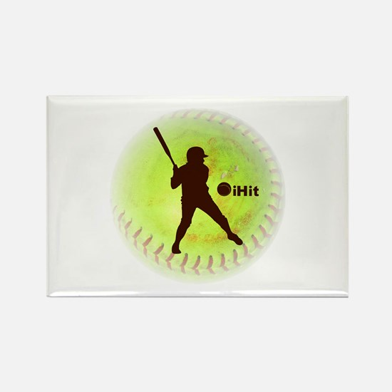 iHit Fastpitch Softball Rectangle Magnet