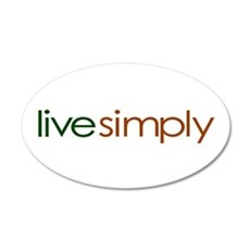 Live Simply 20x12 Oval Wall Peel
