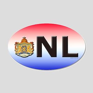 Netherlands (NL) 20x12 Oval Wall Peel