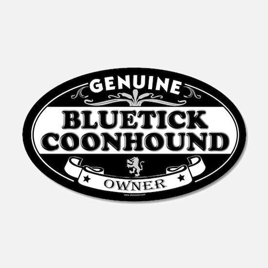 BLUETICK COONHOUND 20x12 Oval Wall Peel