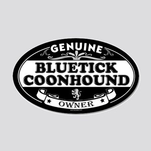 BLUETICK COONHOUND 35x21 Oval Wall Peel