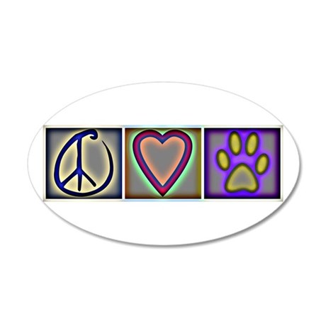 Peace Love Dogs (ALT) - 20x12 Oval Wall Peel
