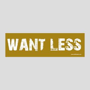Want Less 2 - Brown 36x11 Wall Peel