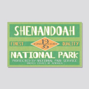 Shenandoah National Park (Retro) Sticker (Rectangu