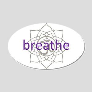 breathe Om Lotus Blossom 20x12 Oval Wall Peel