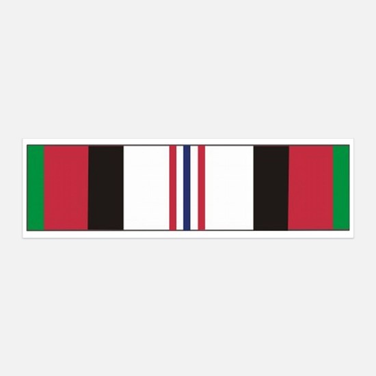 Afghanistan Campaign Ribbon 36x11 Wall Peel