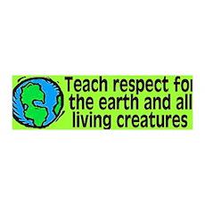 teach respect... 36x11 Wall Peel