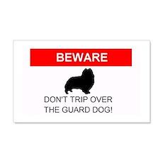 BEWARE: Don't trip over the guard dog! Sticker