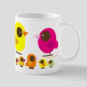 """birds + 5 birdies"" Mug"