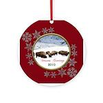 2010 Buffalo Christmas Ornament (Round)
