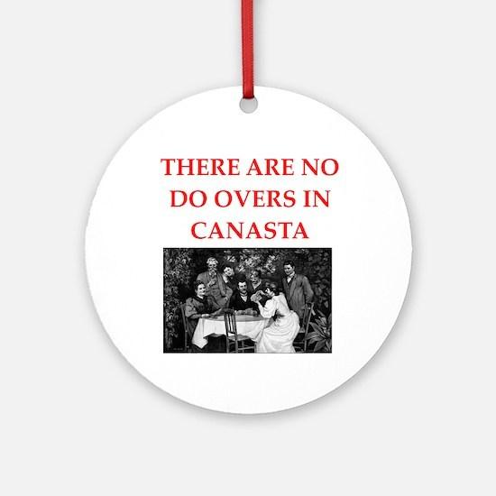 canasta Ornament (Round)