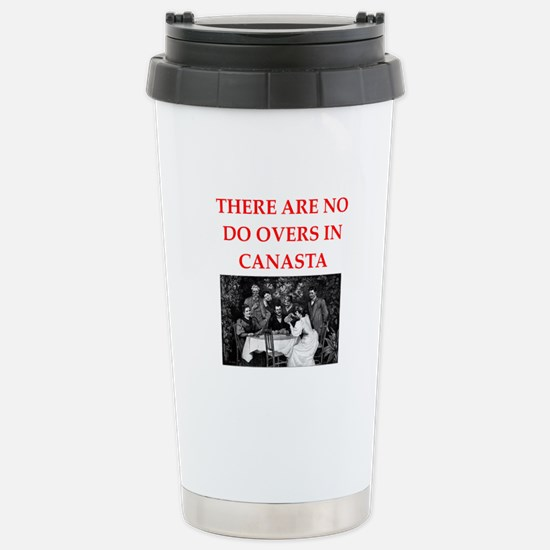 canasta Stainless Steel Travel Mug