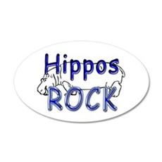 Hippos Rock 20x12 Oval Wall Peel