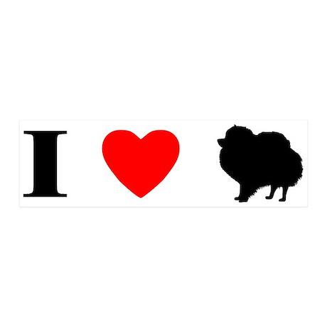 I Heart Pomeranian 20x6 Wall Peel