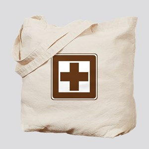 First Aid Sign Tote Bag