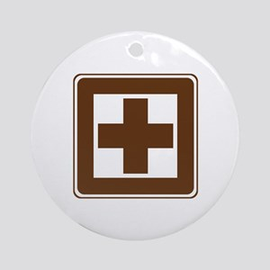First Aid Sign Ornament (Round)