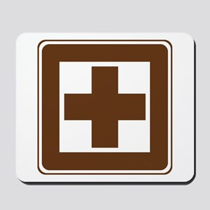 First Aid Sign Mousepad