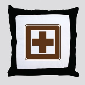 First Aid Sign Throw Pillow
