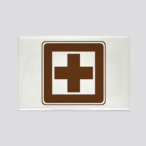 First Aid Sign Rectangle Magnet