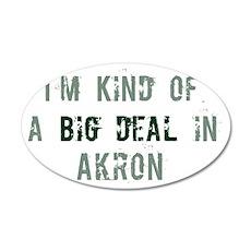 Big deal in Akron 20x12 Oval Wall Peel