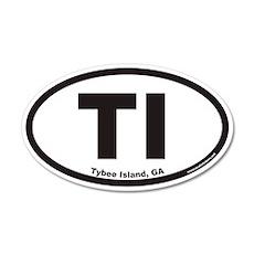 Tybee Island TI Euro 20x12 Oval Wall Peel