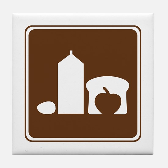 Grocery Sign Tile Coaster