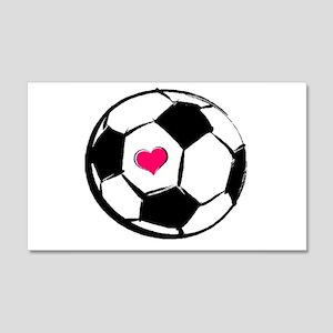 Soccer Heart 20x12 Wall Peel
