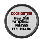 Dogfighting... Large Wall Clock