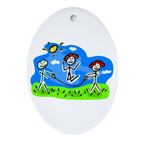 Little Bitty's Daycare Oval Ornament