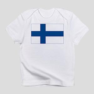 Finland Flag Creeper Infant T-Shirt