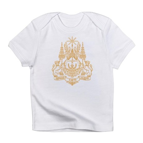 Cambodia Coat of Arms Creeper Infant T-Shirt
