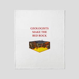 i love geology Throw Blanket