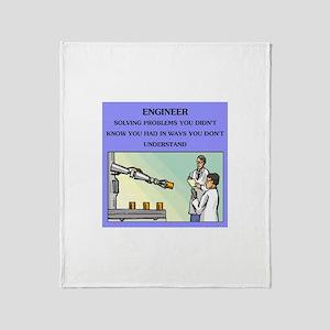 engineer engineering joke Throw Blanket