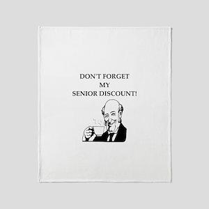 retiree senior citizen Throw Blanket