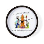 I AM a rocket scientist! Wall Clock