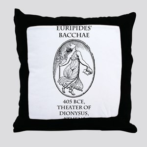 Euripides' Bacchae Throw Pillow