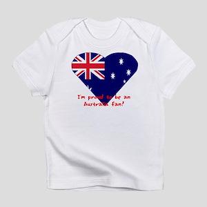 Australia Fan Flag Creeper Infant T-Shirt