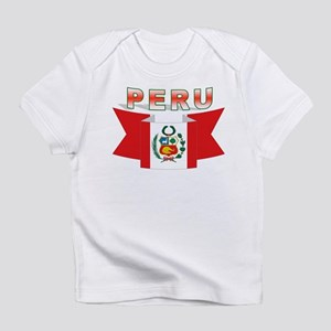 The flag of Peru ribbon Infant T-Shirt