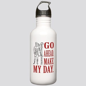 Go ahead. Make my day. (Eng) Stainless Water Bottl