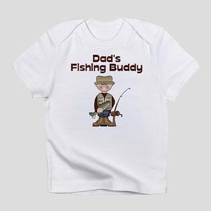 Dad's Fishing Buddy Creeper Infant T-Shirt