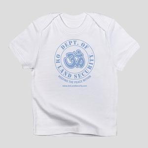 Om Land Security (Lt Blue/Lt Blue) Infant T-Shirt