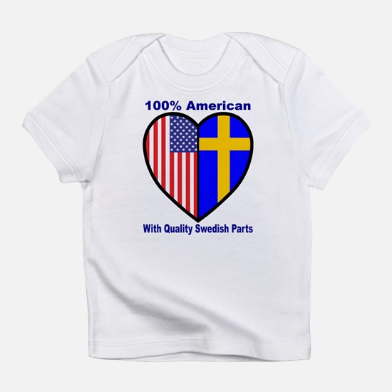 Swedish-American FlagHeart2Creepr Infant T-Shirt