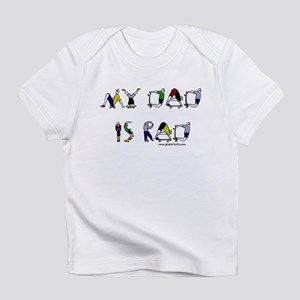 My dad is rad Creeper Infant T-Shirt
