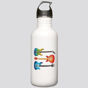 3 Electric Guitars Stainless Water Bottle 1.0L